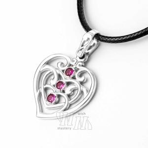 Кулон сердце из серебра